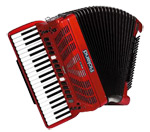red Roland accordion
